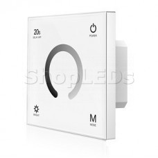 Панель SMART-P4-DIM-G-IN White (12-24V, 4x3A, Sens, 2.4G) (ARL, IP20 Пластик, 5 лет)