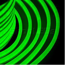 Гибкий Неон LED - зеленый, оболочка зеленая, бухта 50м