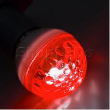 Лампа строб e27 ∅50мм красная